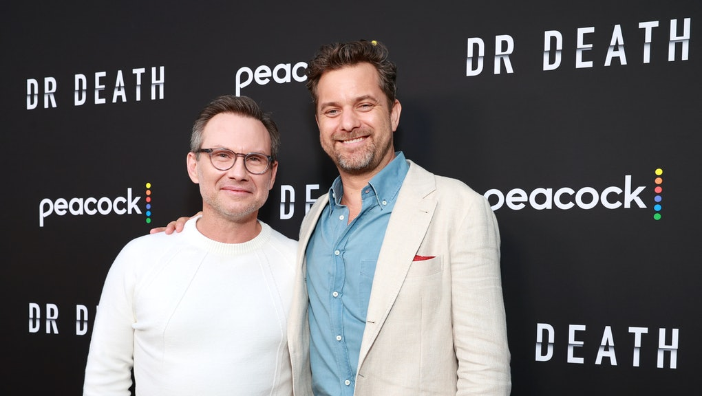 HOLLYWOOD, CALIFORNIA - JULY 08: Christian Slater and Joshua Jackson attends the the premiere of Pea...