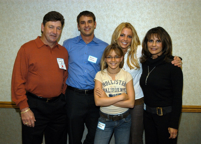 Britney Spears's family (Jamie Spears, Jamie-Lynn Spears, and Lynne Spears) react to her conservator...