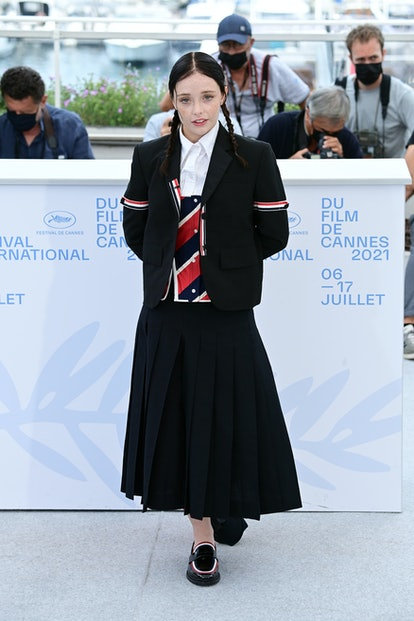 """CANNES, FRANCE - JULY 15: Suzanna Son attends the """"Red Rocket"""" photocall during the 74th annual Cann..."""