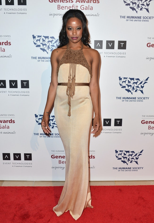 BEVERLY HILLS, CA - MARCH 23:  Actress Taylour Paige arrives to the 2013 Genesis Awards Benefit Gala...