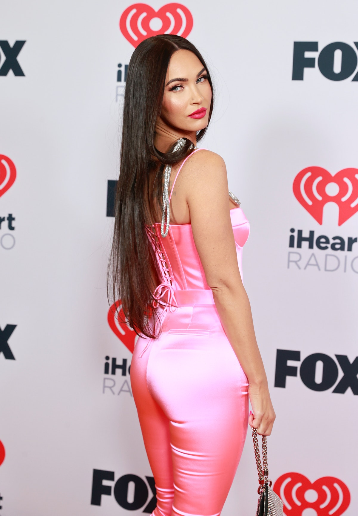 LOS ANGELES, CALIFORNIA - MAY 27: (EDITORIAL USE ONLY) Megan Fox attends the 2021 iHeartRadio Music ...
