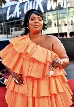 Lizzo attends the 2019 American Music Awards in Los Angeles, California in November 2019.