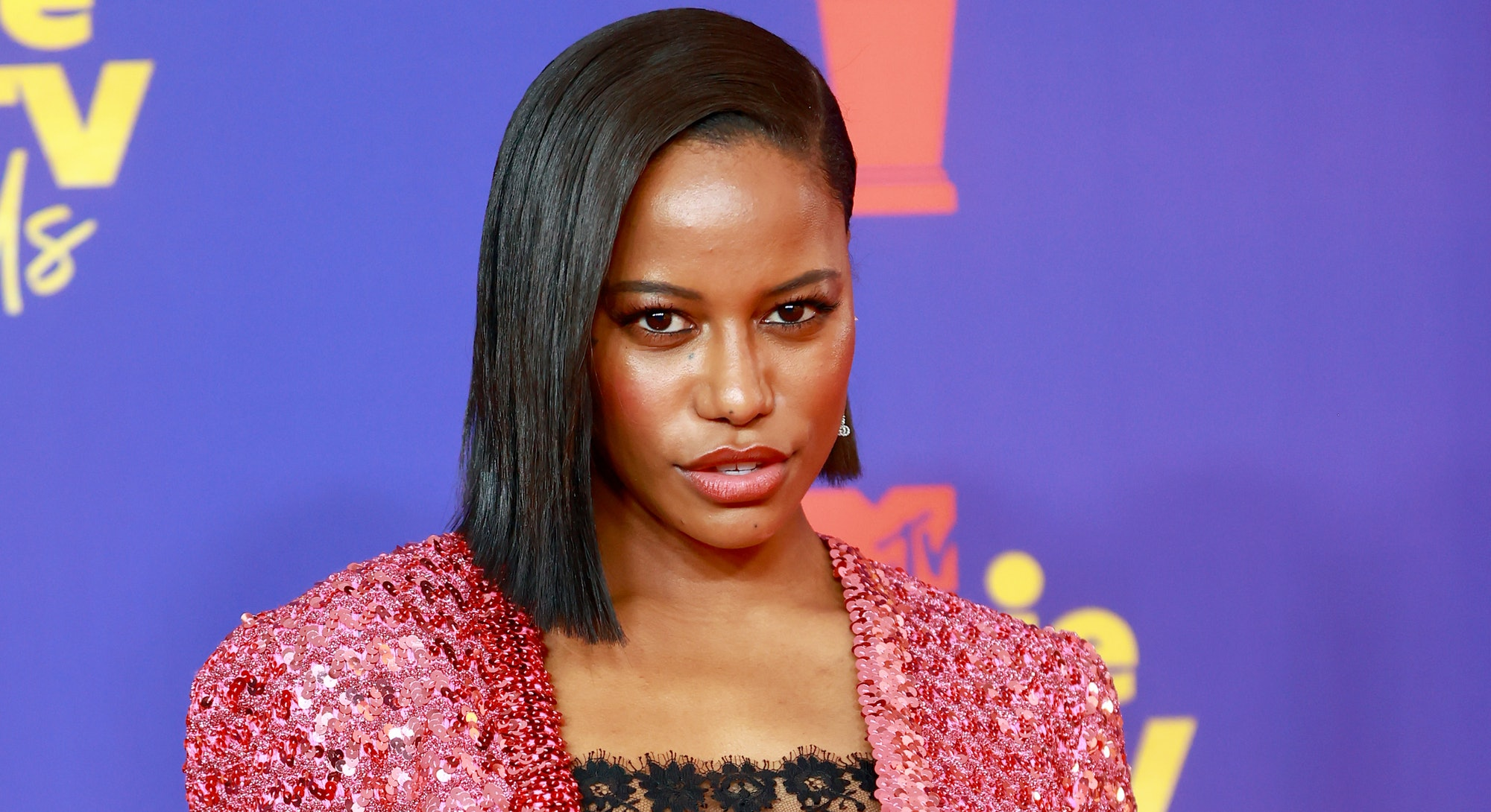 LOS ANGELES, CALIFORNIA - MAY 16: Taylour Paige attends the 2021 MTV Movie & TV Awards at the Hollyw...