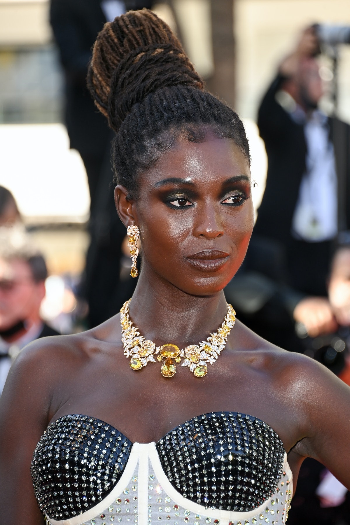 """CANNES, FRANCE - JULY 08: Jodie Turner-Smith attends the """"Stillwater"""" screening during the 74th annual Cannes Film Festival on July 08, 2021 in Cannes, France. (Photo by Daniele Venturelli/WireImage)"""