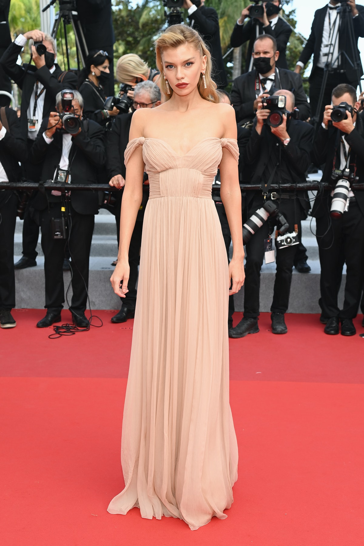 """CANNES, FRANCE - JULY 15: Stella Maxwell attends the """"France"""" screening during the 74th annual Cannes Film Festival on July 15, 2021 in Cannes, France. (Photo by Pascal Le Segretain/Getty Images)"""