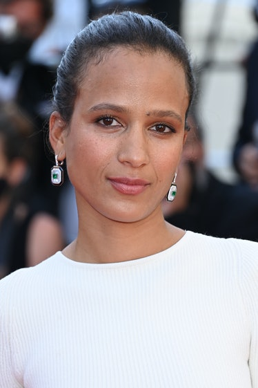 """CANNES, FRANCE - JULY 09: Jury member Mati Diop attends the """"Benedetta"""" screening during the 74th an..."""