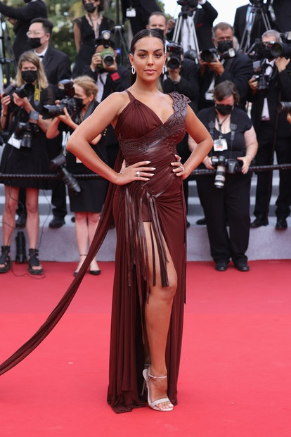 """CANNES, FRANCE - JULY 15: Georgina Rodriguez attends the """"France"""" screening during the 74th annual C..."""