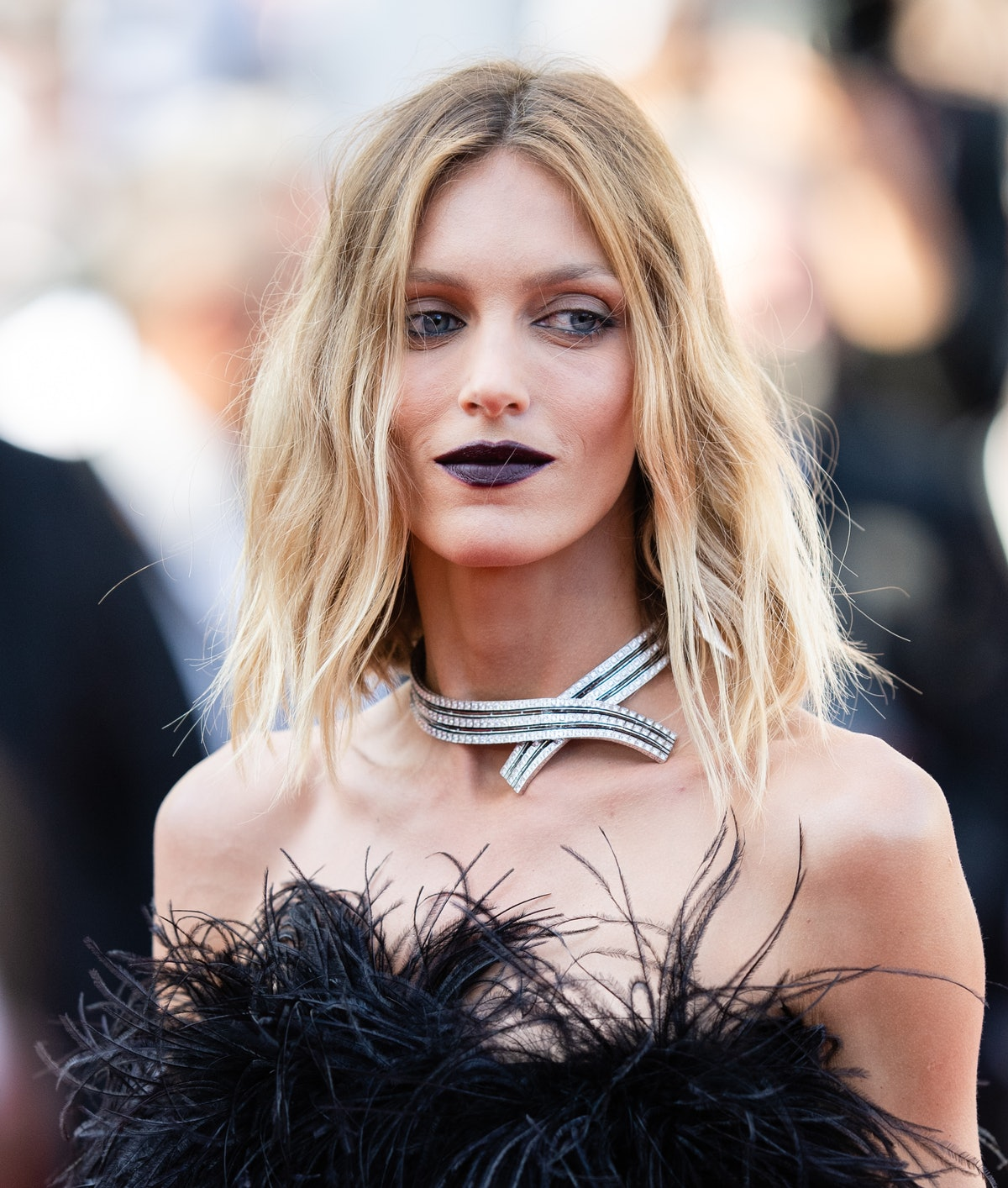 """CANNES, FRANCE - JULY 10: Anja Rubik attends the """"De Son Vivient (Peaceful)"""" screening during the 74th annual Cannes Film Festival on July 10, 2021 in Cannes, France. (Photo by Samir Hussein/WireImage)"""