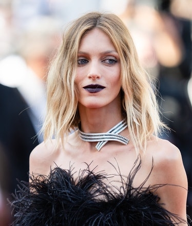 """CANNES, FRANCE - JULY 10: Anja Rubik attends the """"De Son Vivient (Peaceful)"""" screening during the 74..."""