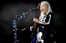 "MORRISON, COLORADO - SEPTEMBER 01: Phoebe Bridgers performs onstage during Day 1 of ""Red Rocks Unpau..."