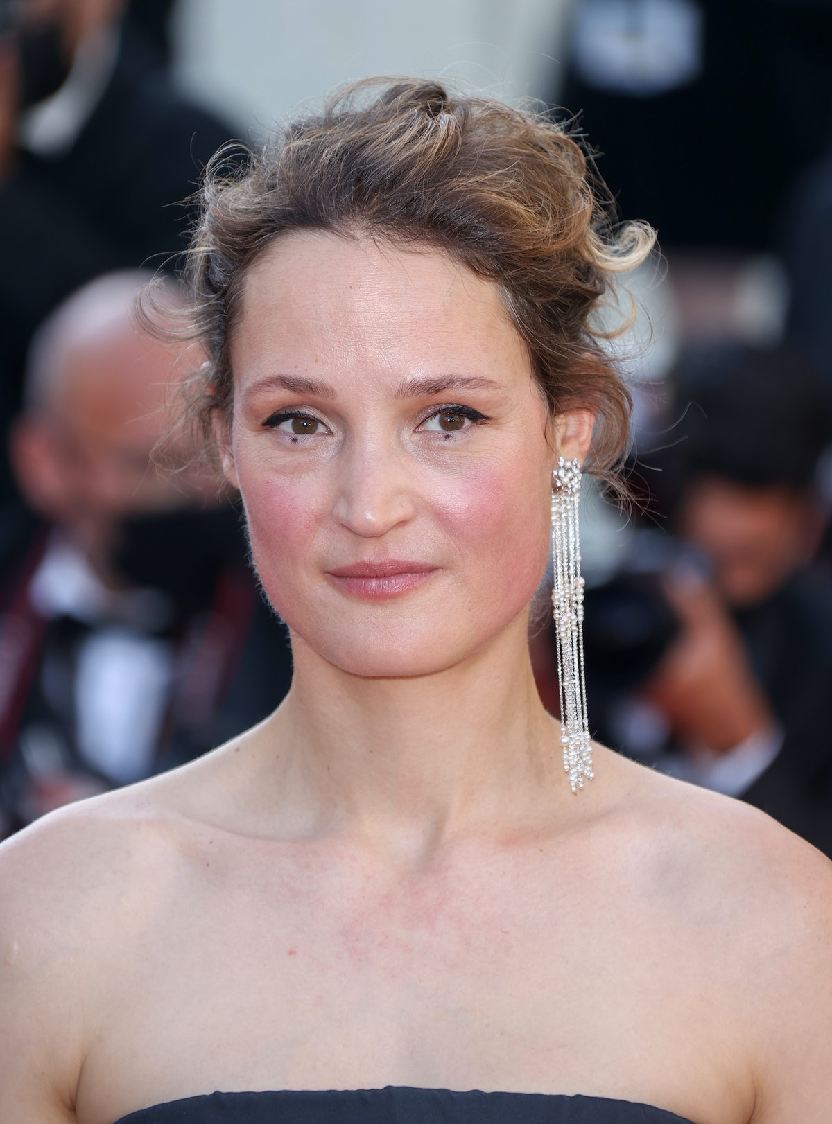 """CANNES, FRANCE - JULY 14: Vicky Krieps attends the """"A Felesegam Tortenete/The Story Of My Wife"""" screening during the 74th annual Cannes Film Festival on July 14, 2021 in Cannes, France. (Photo by Mike Marsland/WireImage)"""