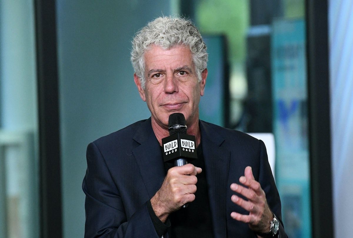 NEW YORK, NY - OCTOBER 30:  Author/TV personality Anthony Bourdain visits Build to discuss the Balve...