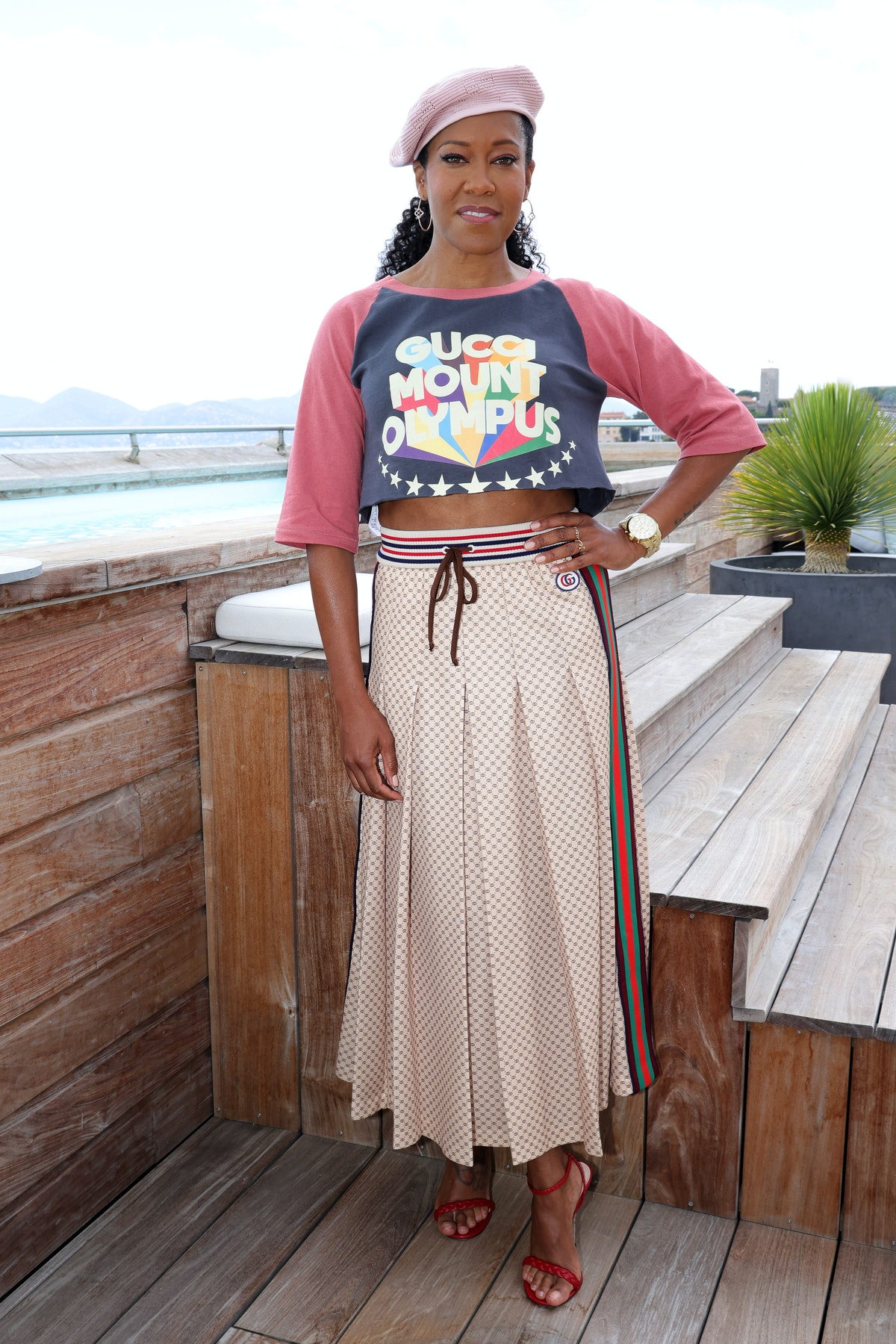 CANNES, FRANCE - JULY 16:  Regina King attends Kering Women In Motion Talk during The 74th Annual Cannes Film Festival on July 16, 2021 in Cannes, France. (Photo by Vittorio Zunino Celotto/Getty Images )