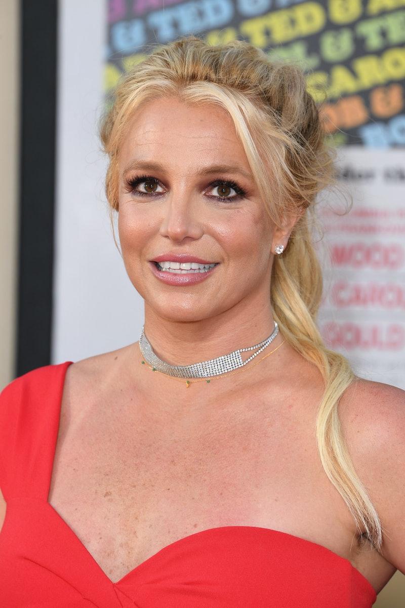 """HOLLYWOOD, CALIFORNIA - JULY 22: Britney Spears attends the Sony Pictures' """"Once Upon A Time...In Hollywood"""" Los Angeles Premiere on July 22, 2019 in Hollywood, California. (Photo by Steve Granitz/WireImage)"""