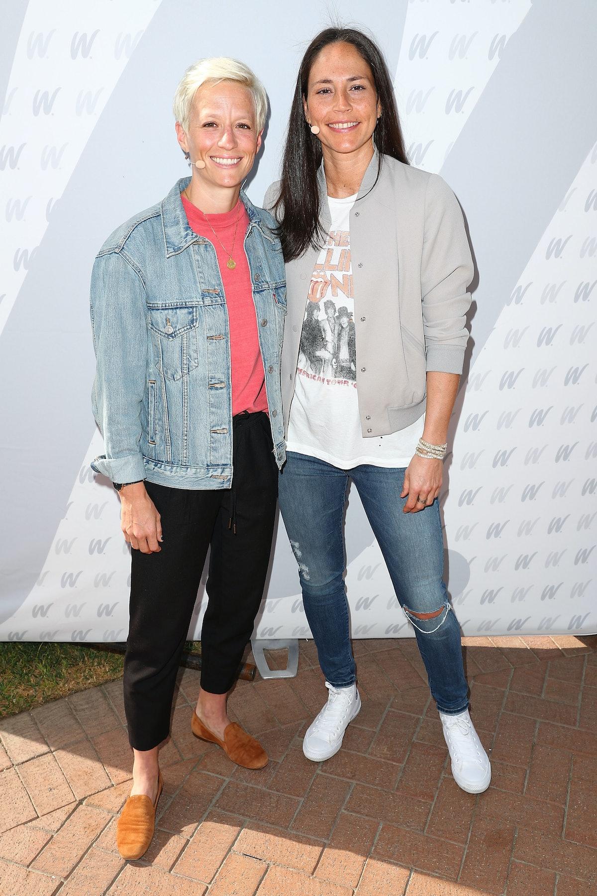 Megan Rapinoe & Sue Bird met at a photo shoot for the 2016 Olympics.