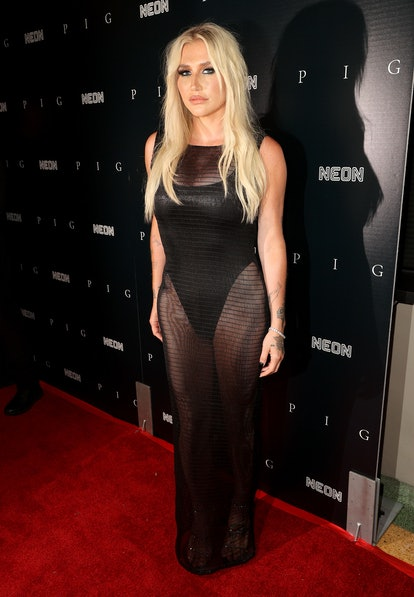 """WEST LOS ANGELES, CALIFORNIA - JULY 13: Kesha attends the Los Angeles premiere of Neon's """"Pig"""" at Nu..."""