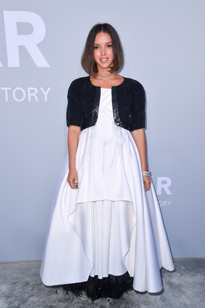 CAP D'ANTIBES, FRANCE - JULY 16: Lyna Khoudri attends the amfAR Cannes Gala 2021 during the 74th Ann...