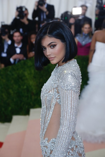 Kylie Jenner attends 'Manus x Machina: Fashion In An Age Of Technology' Costume Institute Gala at Metropolitan Museum of Art in New York City, USA, on 02 May 2016. Photo: Hubert Boesl - NOWIRESERVICE -   usage worldwide   (Photo by Hubert Boesl/picture alliance via Getty Images)