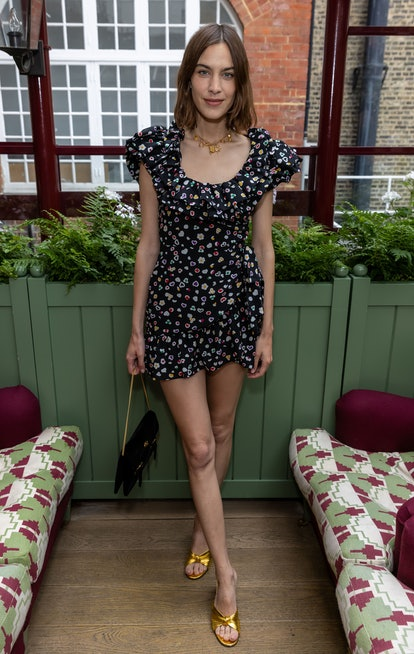 LONDON, ENGLAND - JULY 15: Alexa Chung at Bird in Hand Wine's Summer Lunch at Mark's Club on July 15...