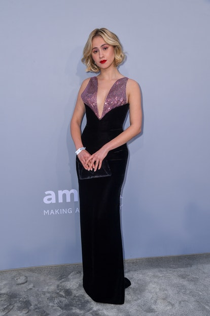 CAP D'ANTIBES, FRANCE - JULY 16: Maria Bakalova attends the amfAR Cannes Gala 2021 during the 74th A...