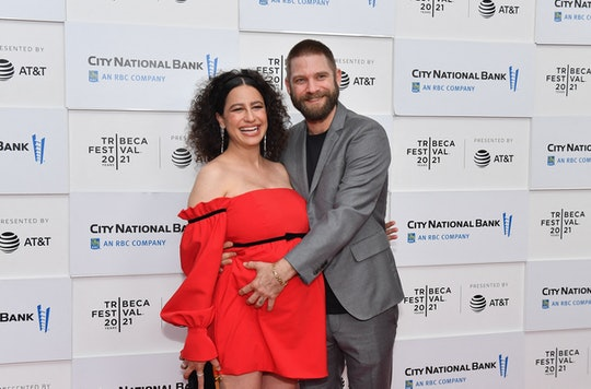 """US actress Ilana Glazer (L) and husband David Rooklin attend the premiere of """"False Positive"""" during..."""