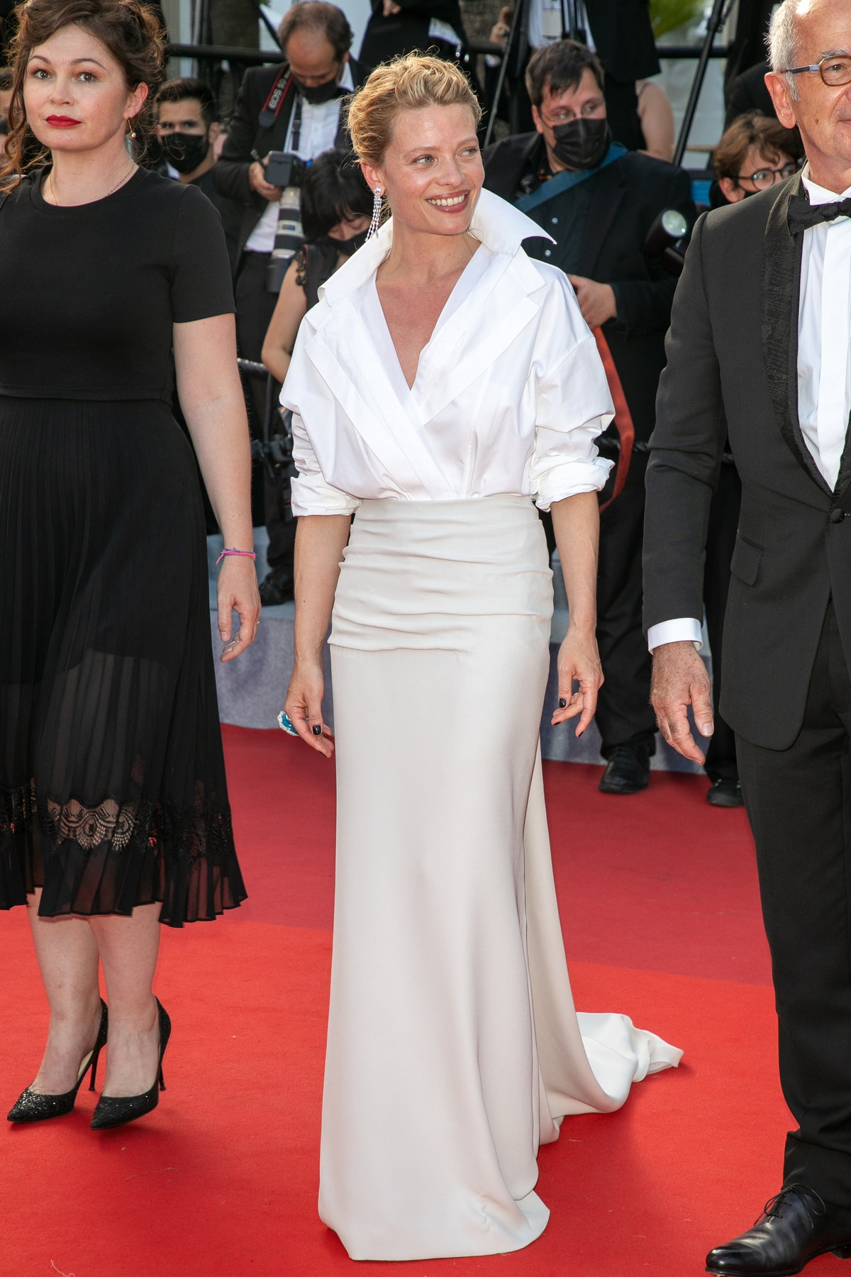 """CANNES, FRANCE - JULY 17: Actress Melanie Thierry attends the final screening of """"OSS 117: From Africa With Love"""" and closing ceremony during the 74th annual Cannes Film Festival on July 17, 2021 in Cannes, France. (Photo by Marc Piasecki/FilmMagic)"""