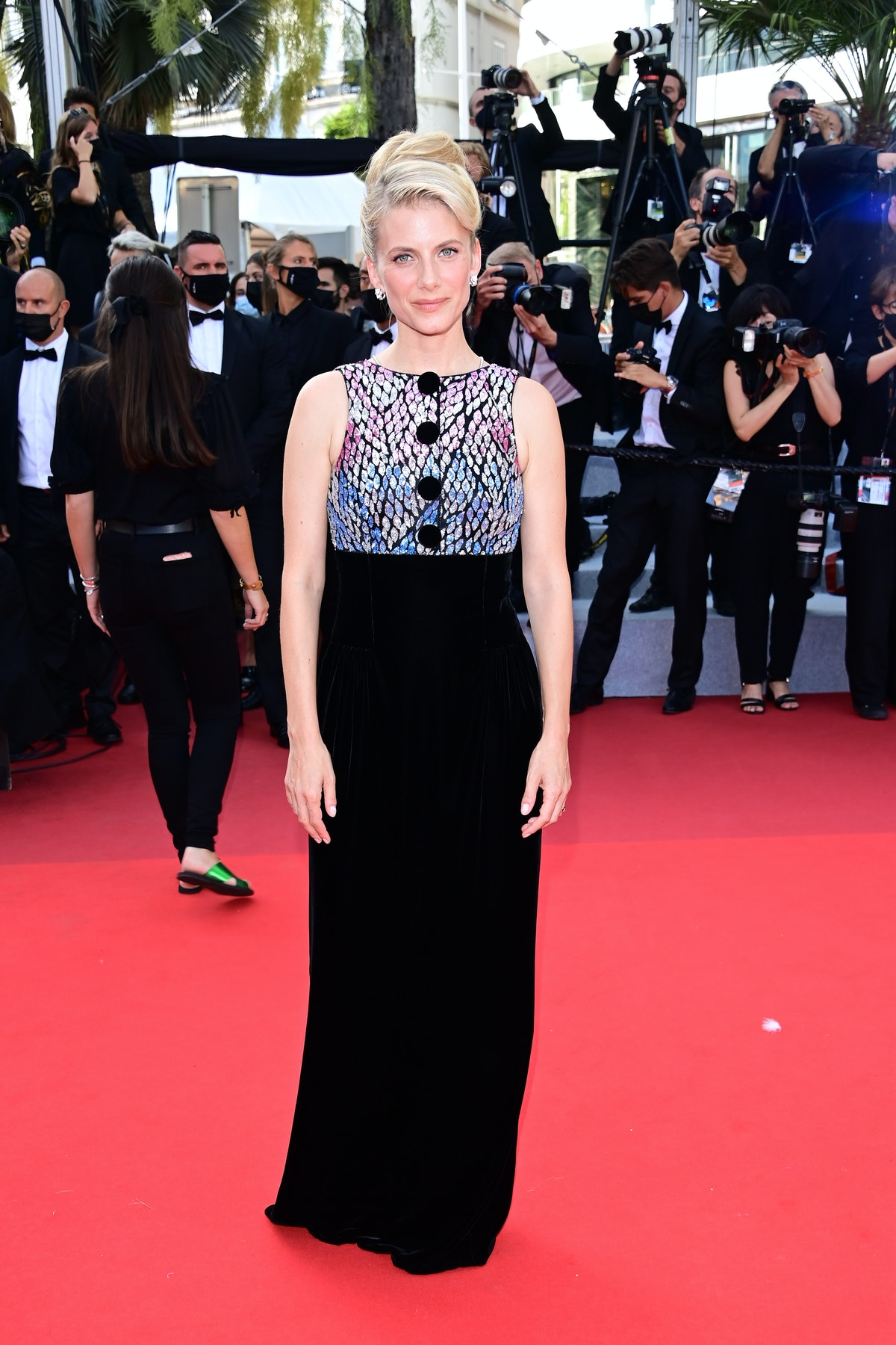 """CANNES, FRANCE - JULY 17: Melanie Laurent attends the final screening of """"OSS 117: From Africa With Love"""" and closing ceremony during the 74th annual Cannes Film Festival on July 17, 2021 in Cannes, France. (Photo by Daniele Venturelli/WireImage)"""