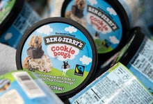 WASHINGTON, DC - MAY 20: Ben and Jerry's ice cream is stored in a cooler at an event where founders ...