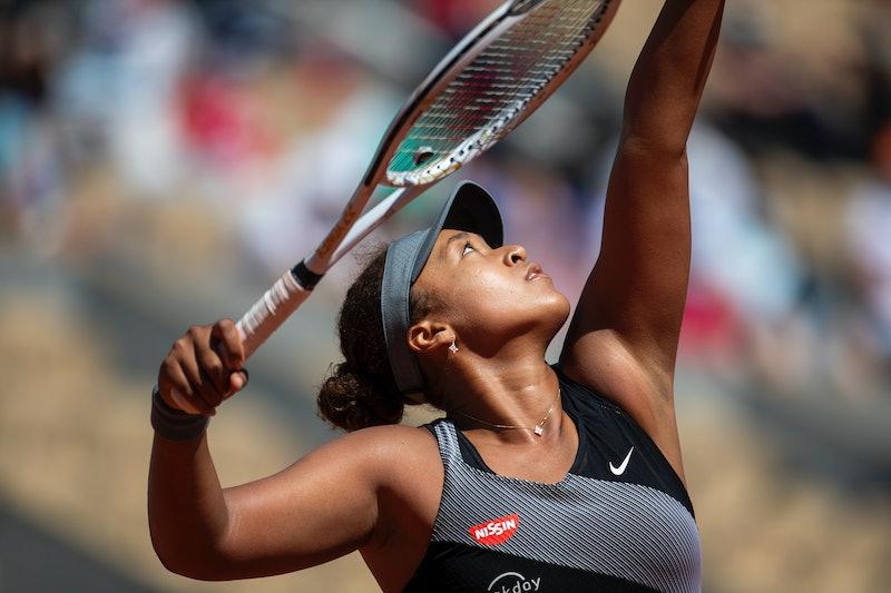 Naomi Osaka at the 2021 French Open Tennis Tournament.