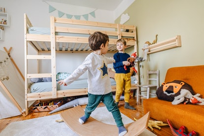 Sharing a bedroom can be beneficial for some siblings.