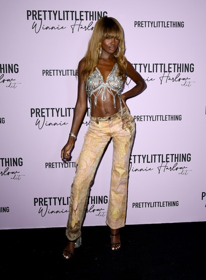 LOS ANGELES, CALIFORNIA - JULY 14: Leomie Anderson attends the PLT x Winnie Harlow Event hosted by P...