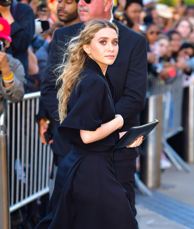 NEW YORK, NY - JUNE 03:  Ashley Olsen arrives to the 2019 CFDA Fashion Awards at Brooklyn Museum on ...