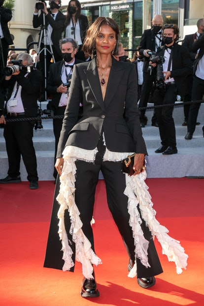 """CANNES, FRANCE - JULY 17: Liya Kebede attends the final screening of """"OSS 117: From Africa With Love..."""