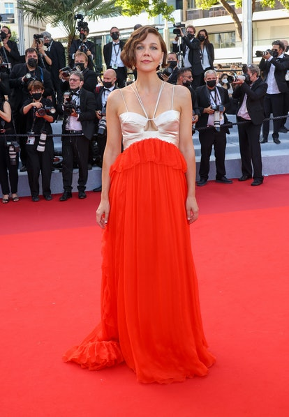 """CANNES, FRANCE - JULY 17: Maggie Gyllenhaal attends the final screening of """"OSS 117: From Africa Wit..."""