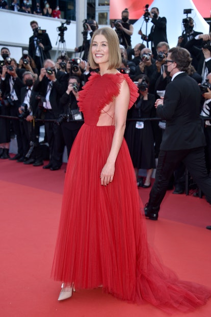 """CANNES, FRANCE - JULY 17: Rosamund Pike attends the final screening of """"OSS 117: From Africa With Lo..."""