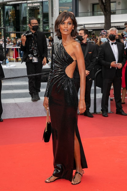 """CANNES, FRANCE - JULY 16: Model Liya Kebede attends the """"Les Intranquilles (The Restless)"""" screening..."""