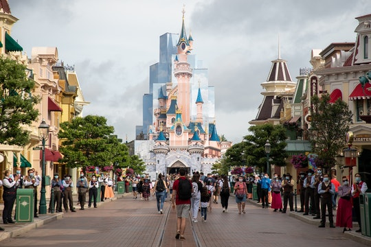 Visitors walk around Disneyland Paris parks following its reopening on June 17, 2021 in Paris, France. (Photo by Marc Piasecki/Getty Images)