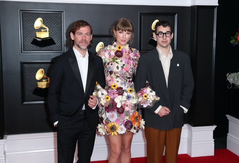 Los Angeles, CA - March 14:  Aaron Dessner, Taylor Swift and Jack Antonoff on the red carpet at the ...
