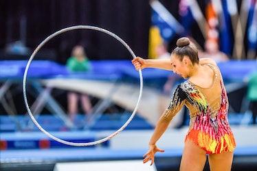 GOLD COAST, QUEENSLAND, AUSTRALIA - 2021/05/13: Australian Senior International Rhythmic Gymnast Ali...