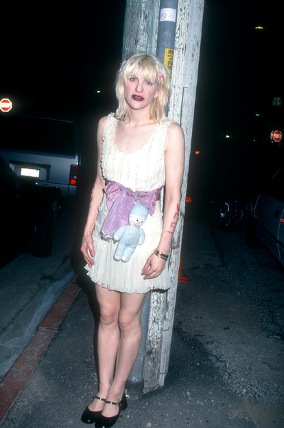 CULVER CITY,CA - FEBRUARY 22: Singer Courtney Love attends the Drug Abuse Resistance Education (D.A....