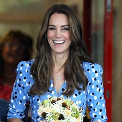 HARLOW, ENGLAND - SEPTEMBER 16:  Catherine, Duchess of Cambridge leaves Steward's Academy on September 16, 2016 in Harlow, England. The Duke and Duchess of Cambridge are visiting Steward's Academy as part of their Heads Together campaign, The Duke and Duchess of Cambridge will visit Stewards Academy in Harlow, Essex, to find out more about the pressures faced by young people when they are going through big changes in their lives, and learn about the support from peers and parents that can help them get through these changes.  (Photo by Chris Jackson/Getty Images)
