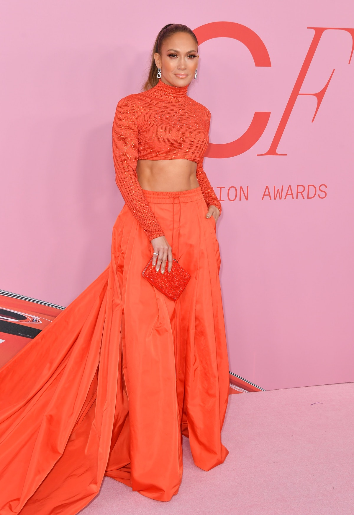 Jennifer Lopez arrives for the 2019 CFDA fashion awards at the Brooklyn Museum in New York City in J...