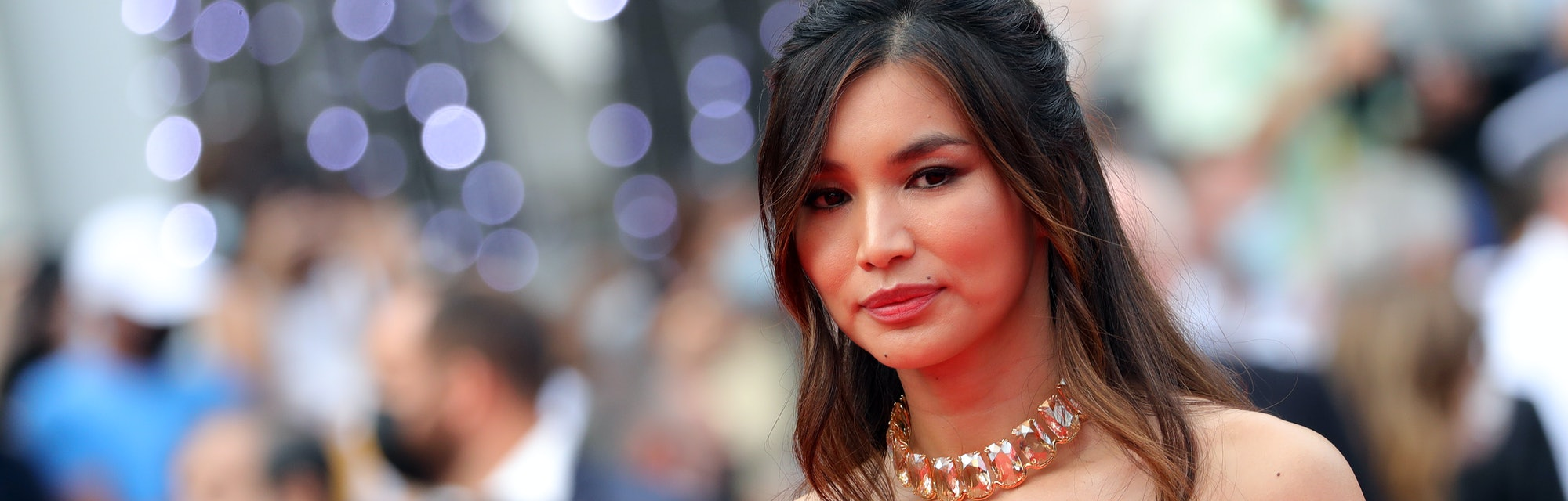 """CANNES, FRANCE - JULY 16: Gemma Chan attends the """"Les Intranquilles (The Restless)"""" screening during..."""