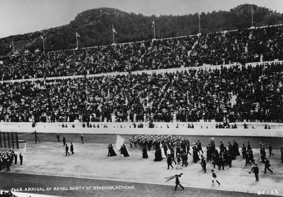 The Olympic Opening Ceremony in Athens in 1906.