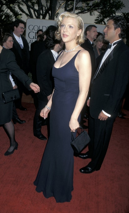 Courtney Love during The 54th Annual Golden Globe Awards at Beverly Hilton Hotel in Beverly Hills, C...