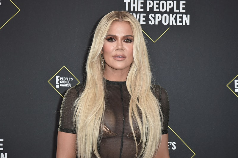 Khloe Kardashian attends 2019 E! People's Choice Awards.