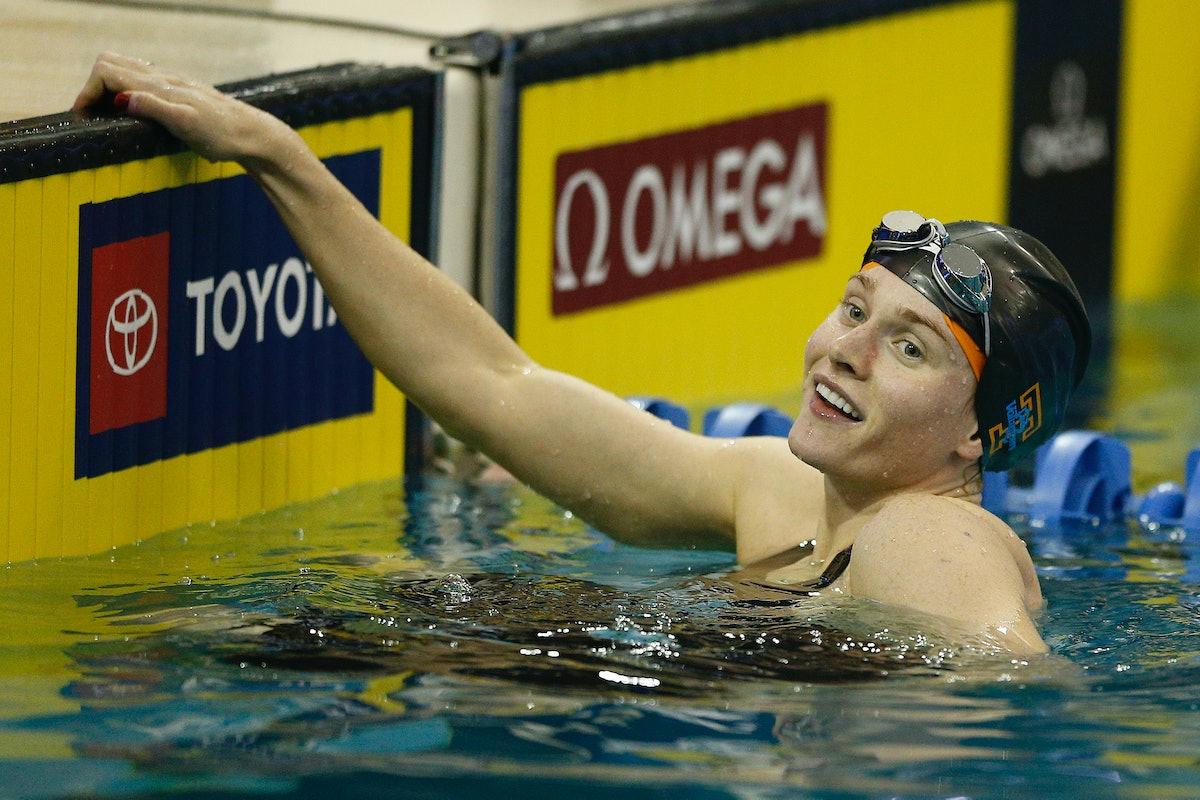 Erika Brown is on the 2021 U.S. Olympic Swim Team