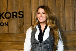 NEW YORK, NY - FEBRUARY 12:  Blake Lively attends the Michael Kors AW/20 Fashion Show at American Stock Exchange on February 12, 2020 in New York City.  (Photo by Aurora Rose/Patrick McMullan via Getty Images)