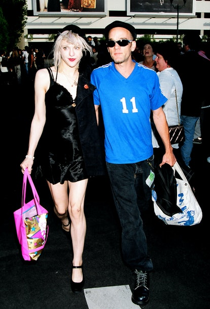Courtney Love and Michael Stipe during 1994 MTV Movie Awards at Sony Studios in Culver City, Califor...