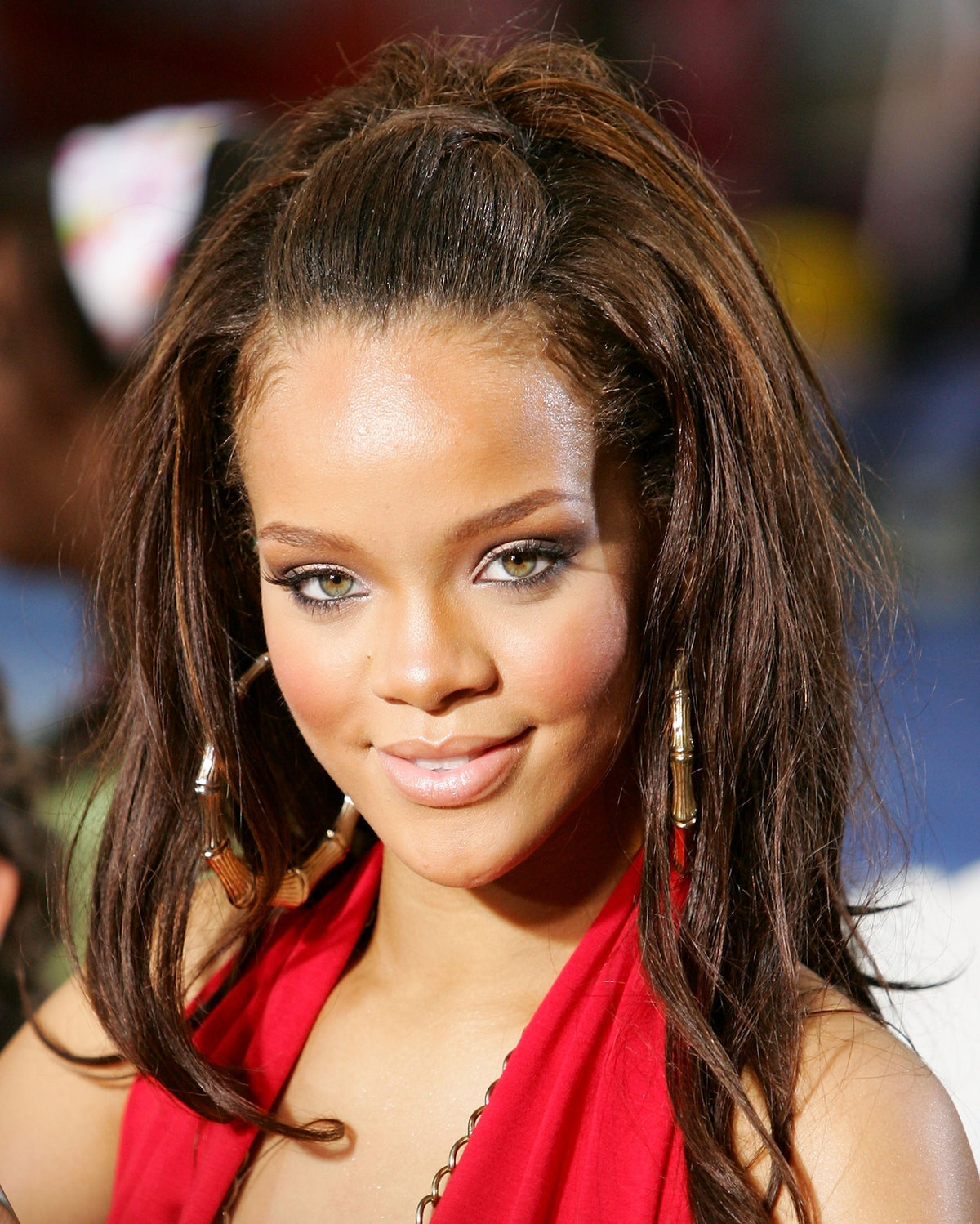 Rihanna performs on NBC's Today Show at Rockefeller Plaza in 2006